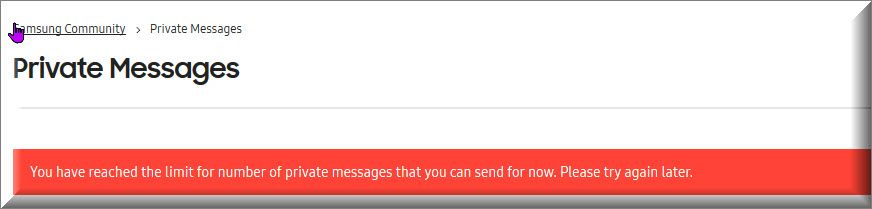 You have reached the limit for the number of private messages that yo ucan send for now. Please try again later..jpg
