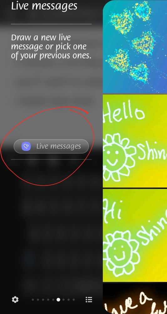 Select Live Messages to open the app to create your own customized Live Messages to share
