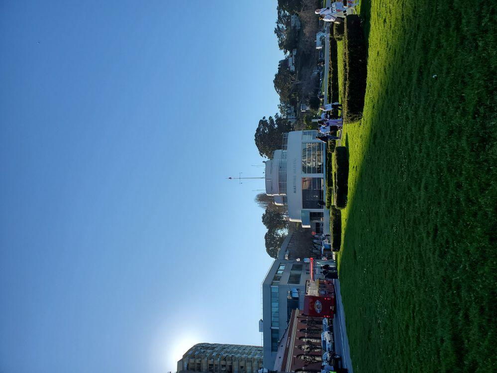 Outside Ghirardelli Square...