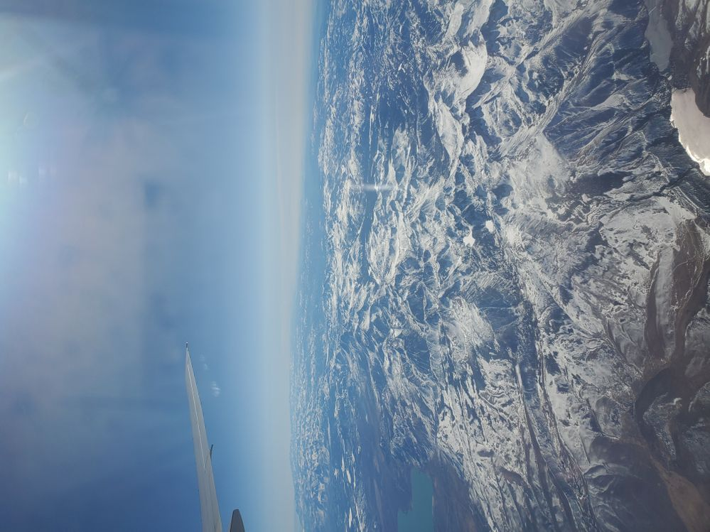 From the plane..