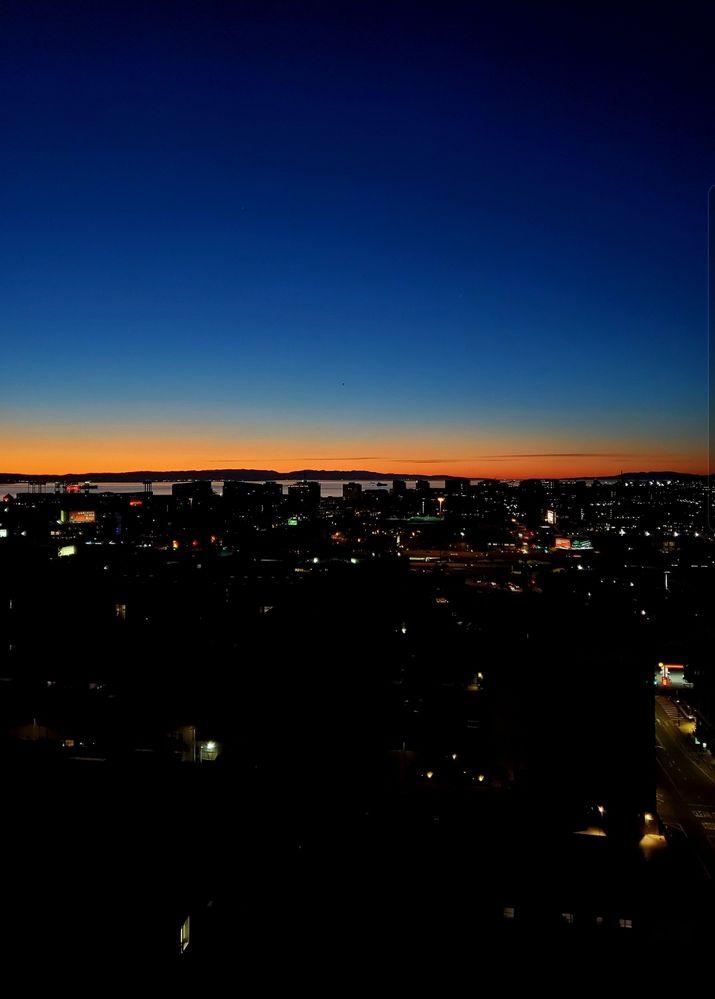 Sunrise in San Francisco