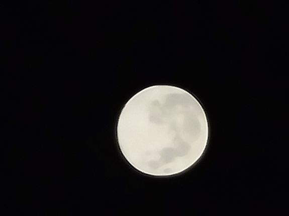 Photo of moon, taken with camera