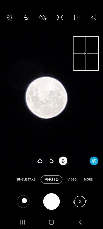 Screenshot of the camera app when I took the photo