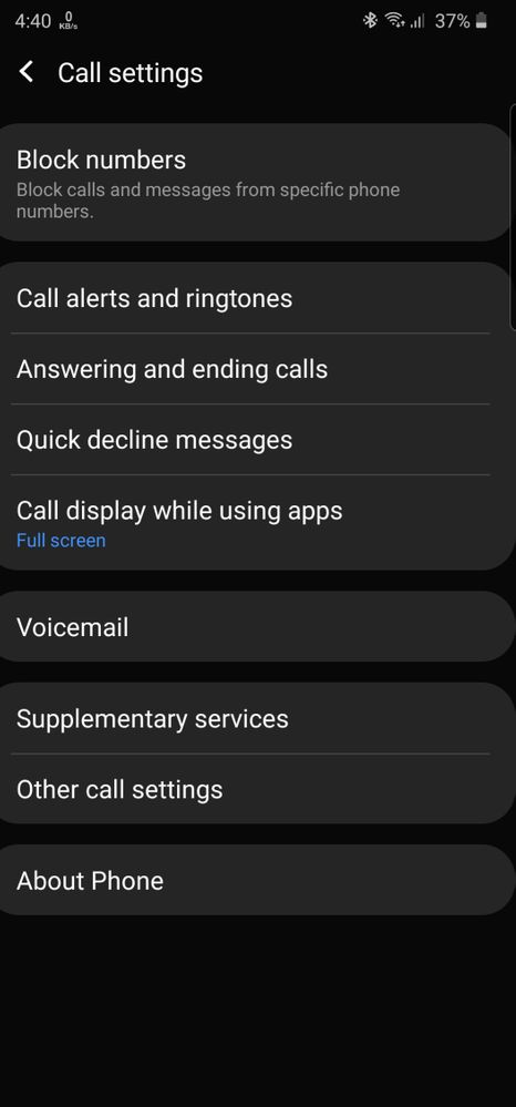 Missing auto call recording option on my Samsung Galaxy A51