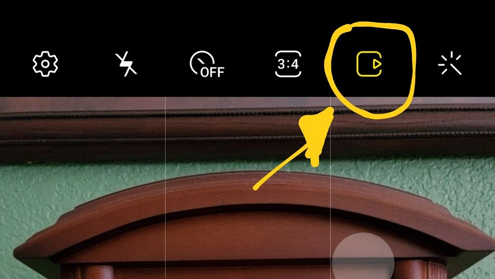 Click this button to turn off motion photo.