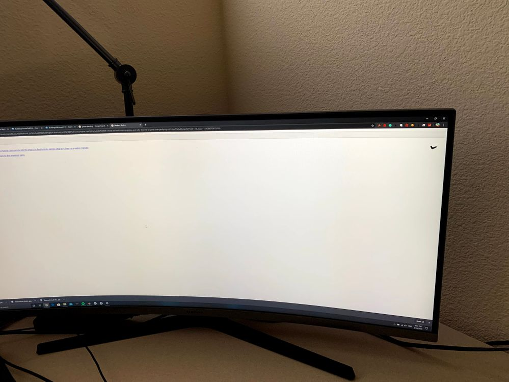 Mark on the right top corner of the monitor