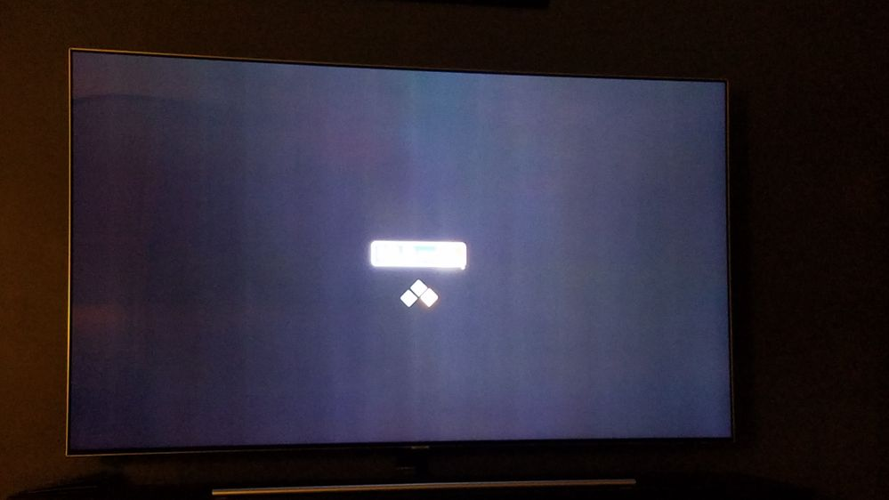 MLB.tv load up screen. Ignore the blurry logo nothing to do with the problem but you can see the lines.