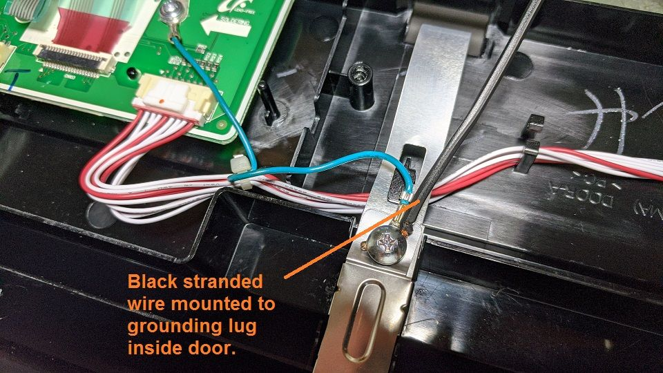 Add your own stranded wire to the same ground point