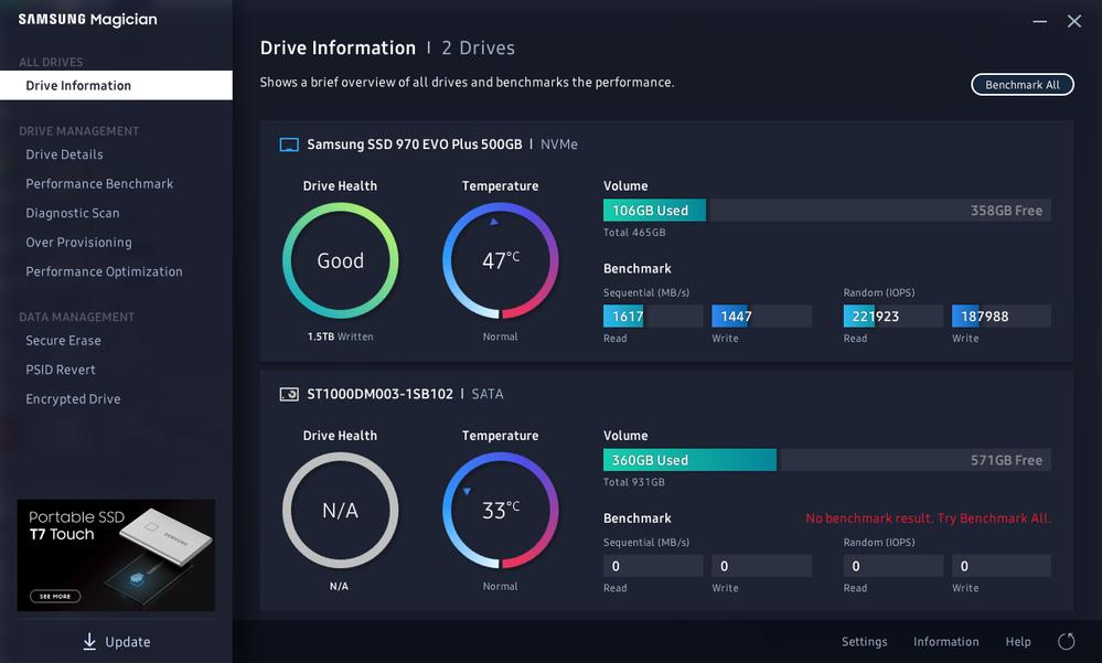 EVO Plus benchmarks faster than SATA