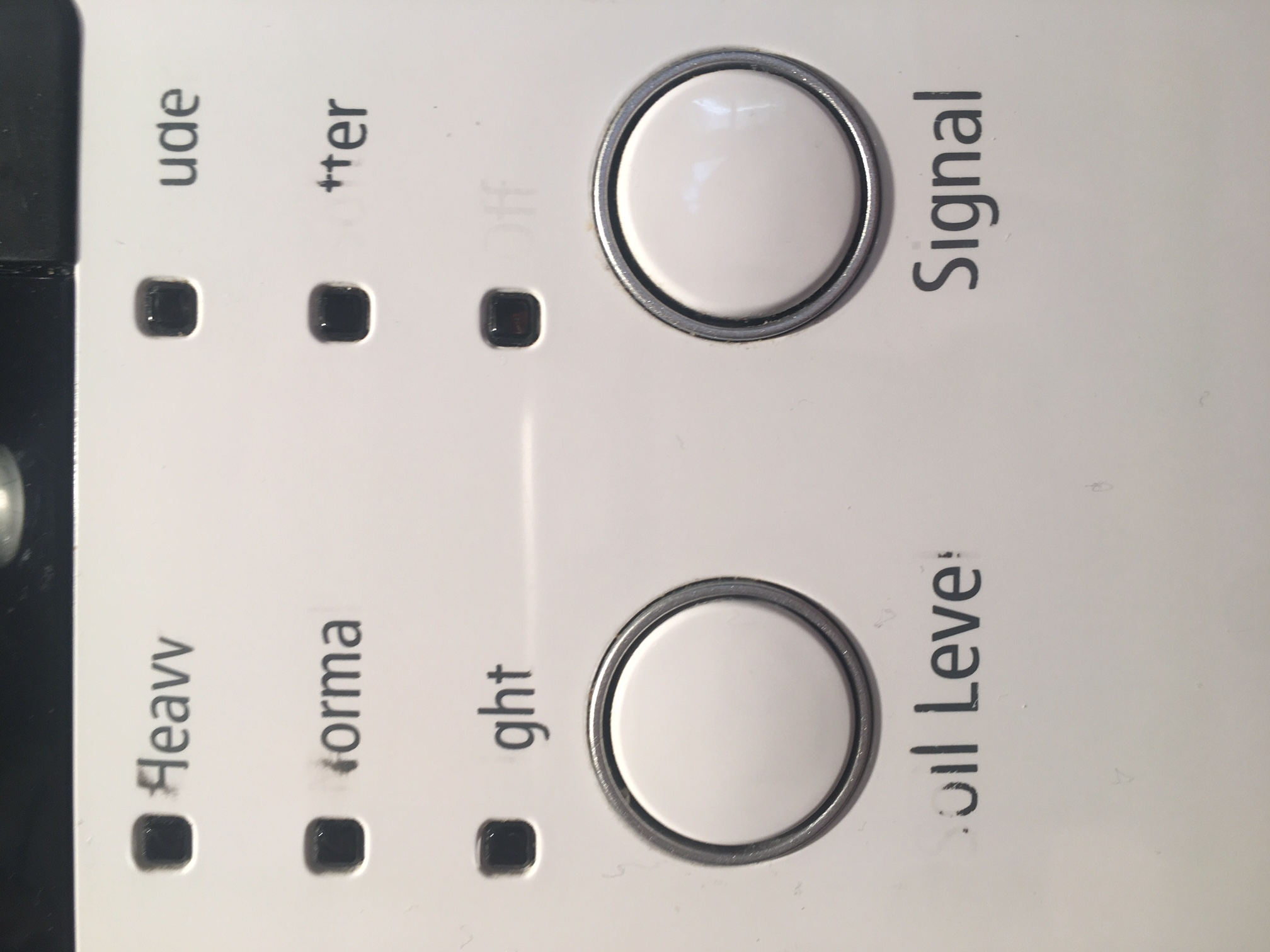 Solved: Front load washer control panel words are smearing