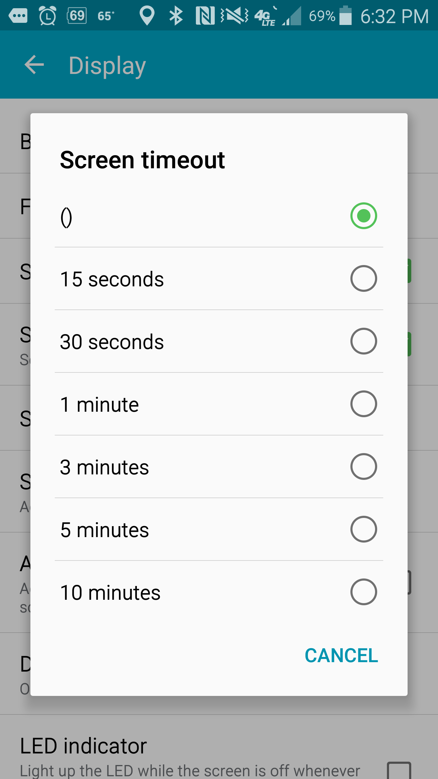 Solved: Screen timeout resets to () - Samsung Community - 2049