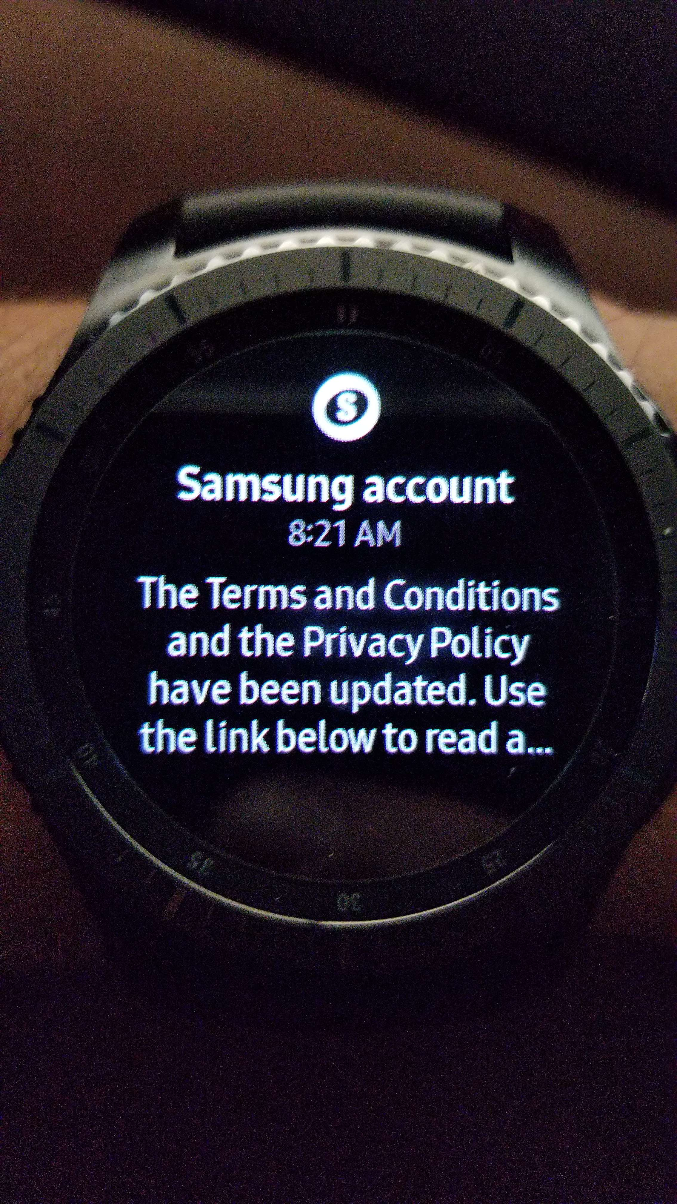 Solved: Samsung Account Terms and Conditions Notification