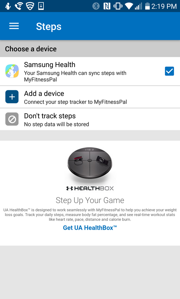 My Fitness Pal And S Health Syncing
